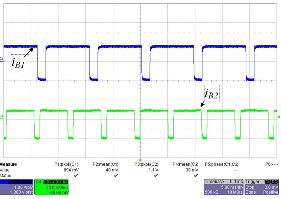 Oscilogram asinhronega obratovanja